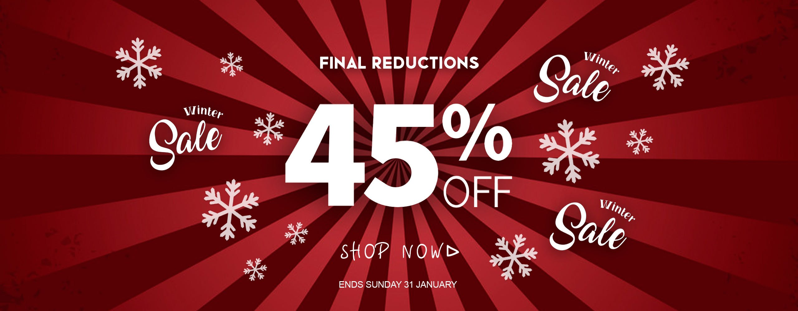 45% off everything at Blitz this Winter!
