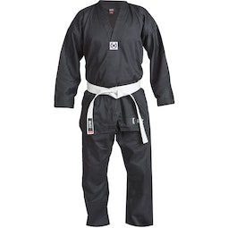Adult Black Polycotton Taekwondo Suit