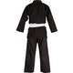 Adult Cotton Student Judo Suit in Black - Rear