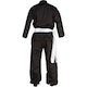 Adult Kung Fu Suit in Black - Rear