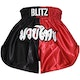 Blitz Adult Muay Thai Shorts - Red / Black