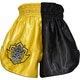 Adult Muay Thai Shorts in Yellow / Black - Rear