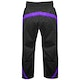 Adult Polycotton Elite Full Contact Trousers in Black / Purple - Rear