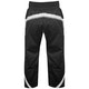 Adult Polycotton Elite Full Contact Trousers in Black / White - Rear