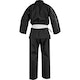 Adult Polycotton Student Karate Suit in Black - Back