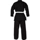 Adult Polycotton Student Karate Suit in Black - Rear View
