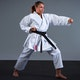 Adult Silver Tournament Karate Suit - Lifestyle