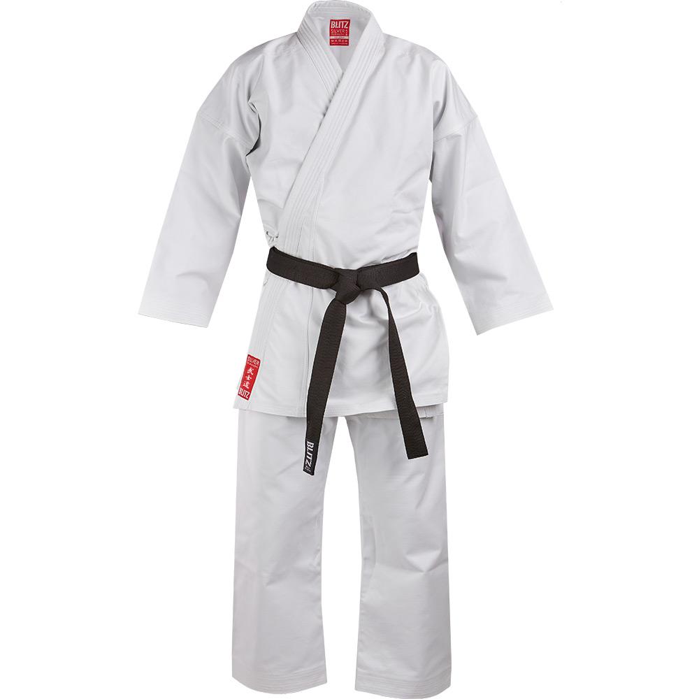 Image of Blitz Adult Silver Tournament 14oz Karate Suit
