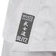 Adult White Diamond Karate Suit - Detail A