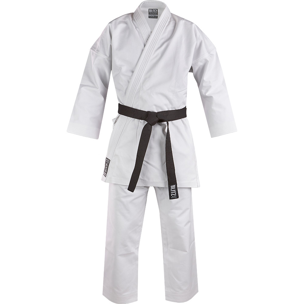 Image of Blitz Adult White Diamond 14oz Karate Suit