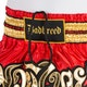 Badbreed Python Thai Shorts in Red / Gold - Details 1