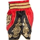 Badbreed Python Thai Shorts in Red / Gold - Side