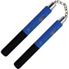 Black / Blue Foam Safety Ball Bearing Nunchaku 12 Inch