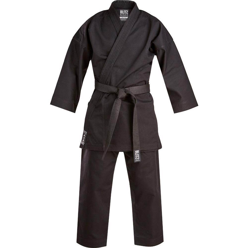 Image of Blitz Black Challenger Karate Suit