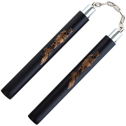 Blitz Black Foam Safety Ball Bearing Nunchaku