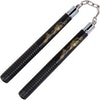 Black Hard Rubber Ball Bearing Nunchaku 12 Inch