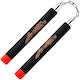 Blitz Black / Red Tip Foam Ball Bearing Nunchaku