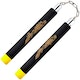 Blitz Black / Yellow Tip Foam Ball Bearing Nunchaku