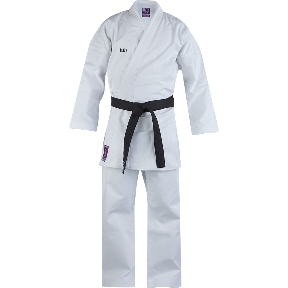 Image of Blitz Adult Zanshin Middleweight 12oz Karate Suit