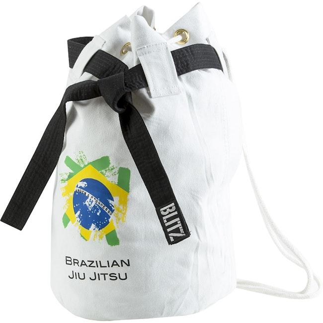 Blitz Brazilian Jiu Jitsu Discipline Duffle Bag - White