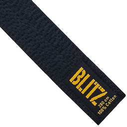 Deluxe Cotton Black Belt