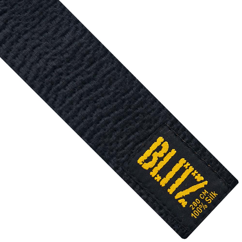 Image of Blitz Deluxe Silk Black Belt