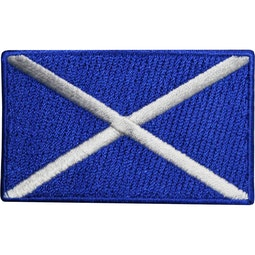Embroidered Badge - Scotland Flag (A59)