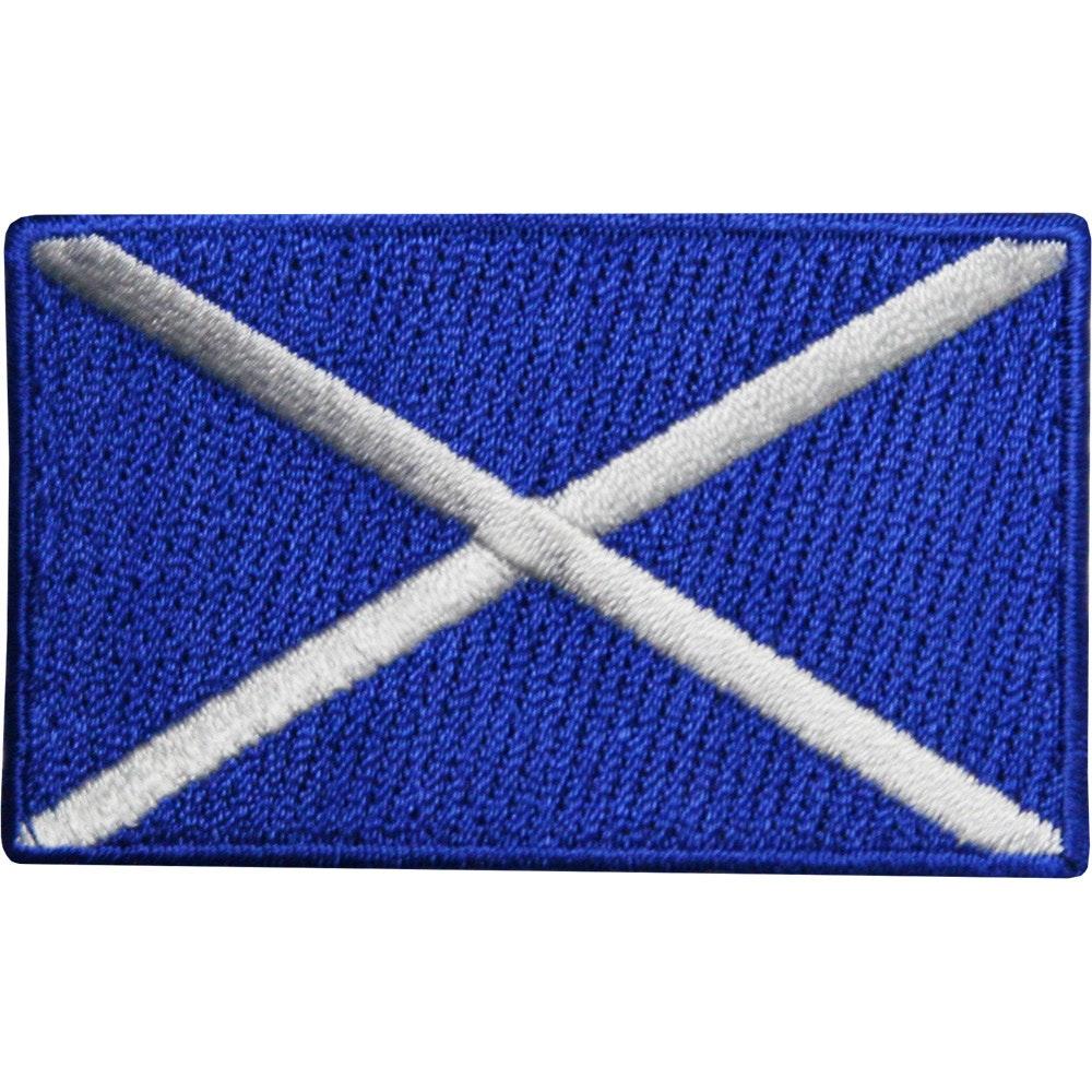 Embroidered Badge - Scotland Flag (A59)