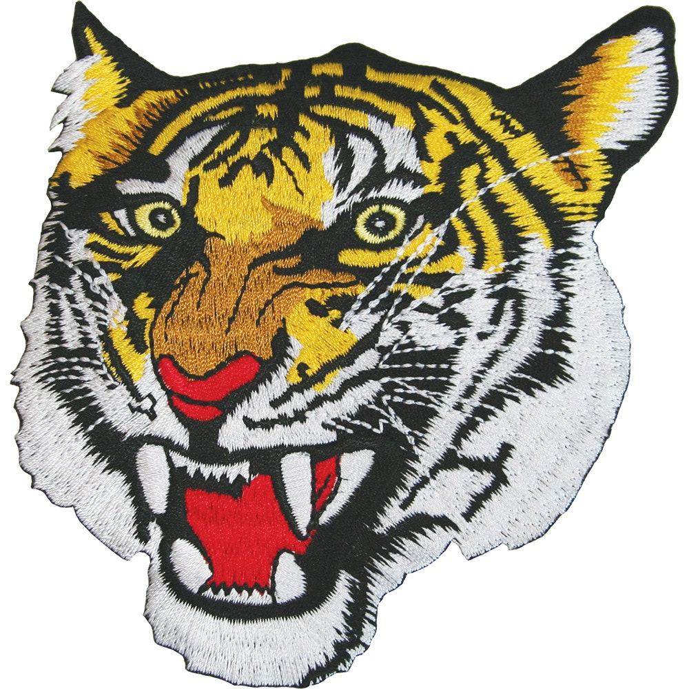 Embroidered Badge - Tiger Head (A42)