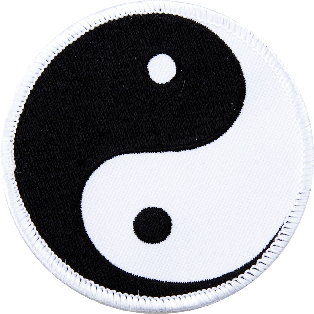 Embroidered Badge - Ying Yang - Black / White (A22)