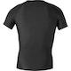 Hybrid V-Neck Short Sleeved Compression Top in Black - Back
