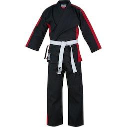 Junior 8oz Martial Arts Suit - Black / Red