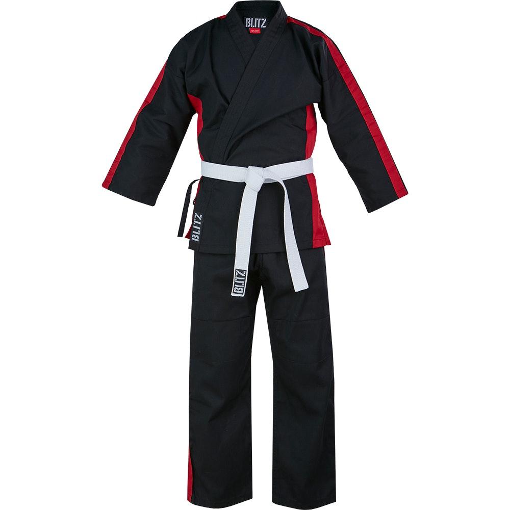 Junior Martial Arts Suit - Black / Red - 8oz