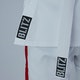 Junior Martial Arts Suit in White / Red - Detail 2