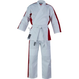 Junior Martial Arts Suit - White / Red - 8oz