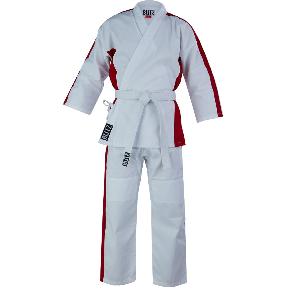 Junior 8oz Martial Arts Suit - White / Red