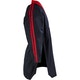 Kids Classic Polycotton Freestyle Top in Black / Red - Side