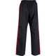 Kids Classic Polycotton Full Contact Trousers in Black / Red - Back