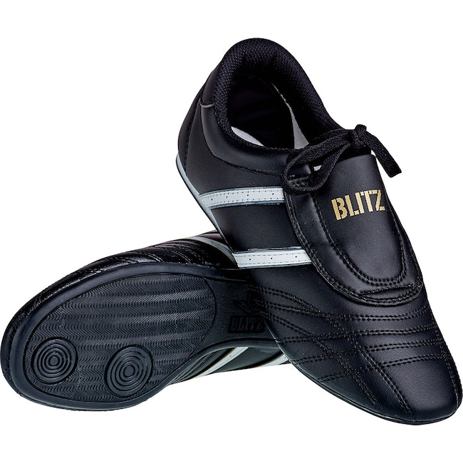 Blitz Kids Martial Arts Training Shoes - Black / White
