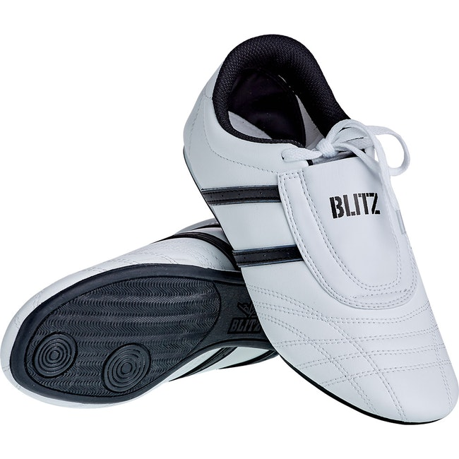 Blitz Kids Martial Arts Training Shoes - White / Black