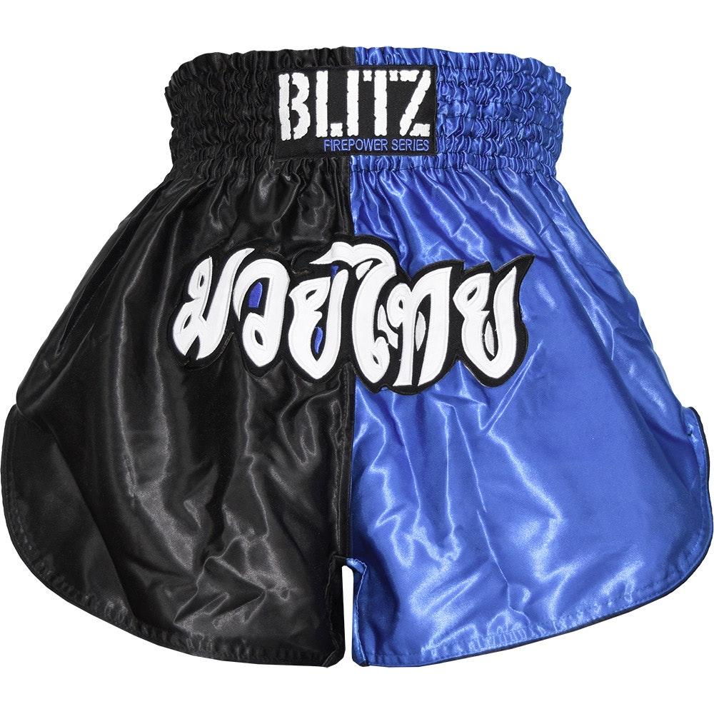Kids Muay Thai Shorts - Blue / Black