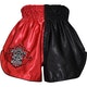 Kids Muay Thai Shorts in Red / Black - Rear