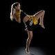 Kids Muay Thai Shorts in Yellow / Black - Lifestyle
