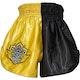 Kids Muay Thai Shorts in Yellow / Black - Rear
