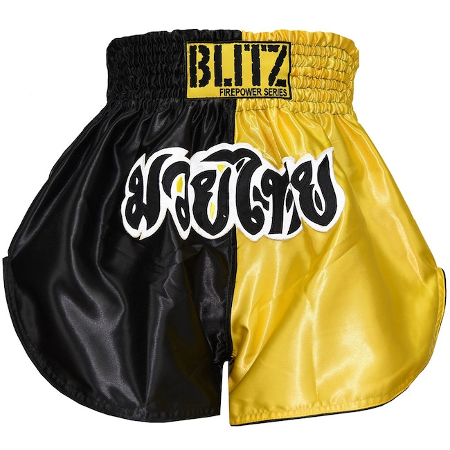 Blitz Kids Muay Thai Shorts - Yellow / Black