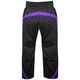 Kids Polycotton Elite Full Contact Trousers in Black / Purple - Rear