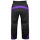 Kids Polycotton Elite Full Contact Trousers in Black / Purple - Rear