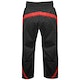 Kids Polycotton Elite Full Contact Trousers in Black / Red - Rear