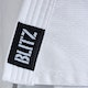 Kids Polycotton Student Judo Suit 350g in White - Detail 2