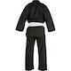 Kids Polycotton V-Neck Suit in Black - Rear